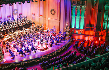 Copley Symphony Hall Decorated for the Holidays