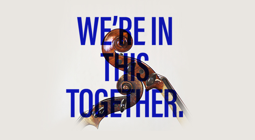 We're in this together.