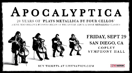 APOCALYPTICA: 20 YEARS OF <em>PLAYS METALLICA BY FOUR CELLOS</em>