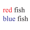 red fish blue fish