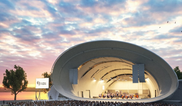 photo of the Shell, the outdoor amphitheater for concerts